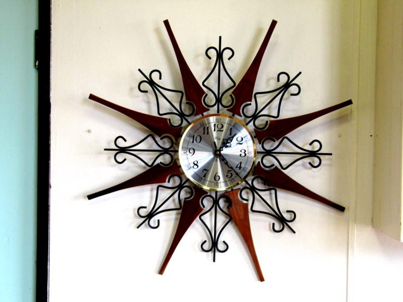 画像1: USA Wall clock OH0051