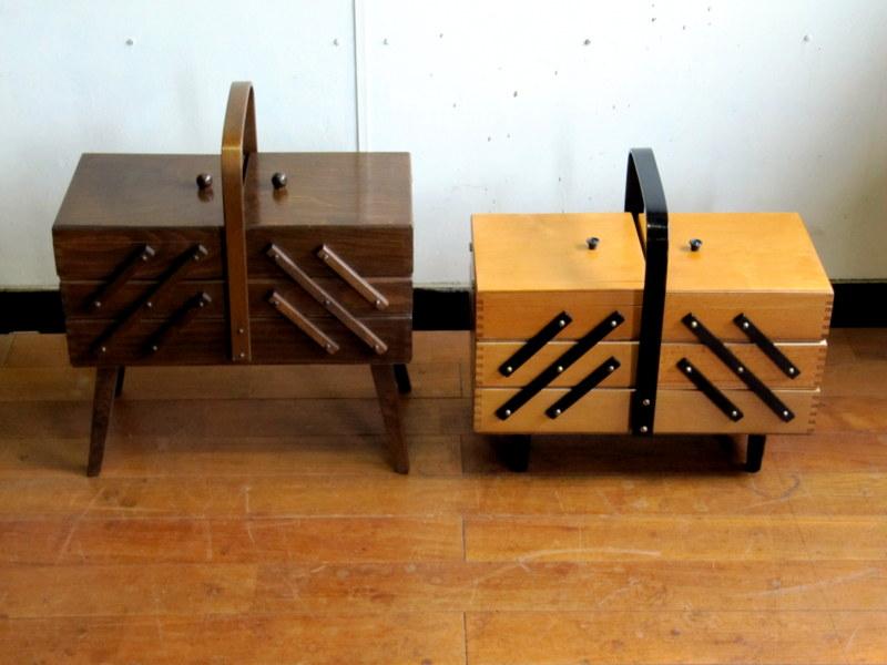 画像1: UK Sewing box OH0120